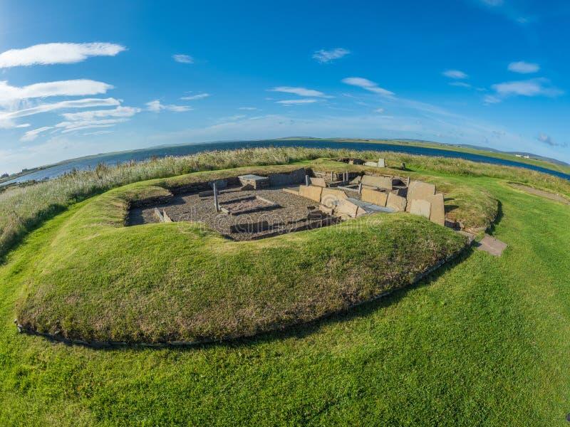 Règlement néolithique de Barnhouse photographie stock libre de droits