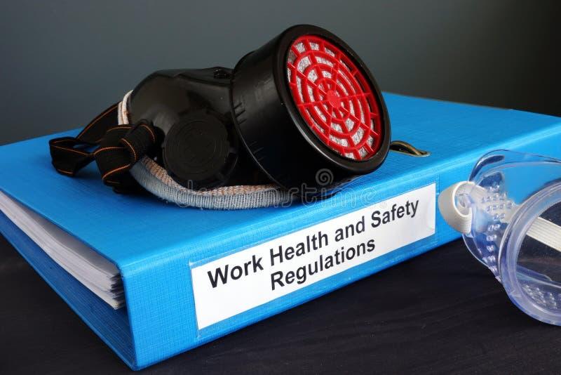 Règlements de la santé et sécurité WHS de travail images stock