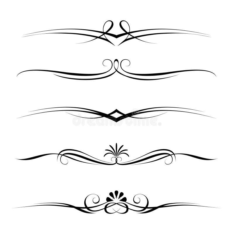 Règles décoratives d'éléments, de cadre et de page illustration libre de droits