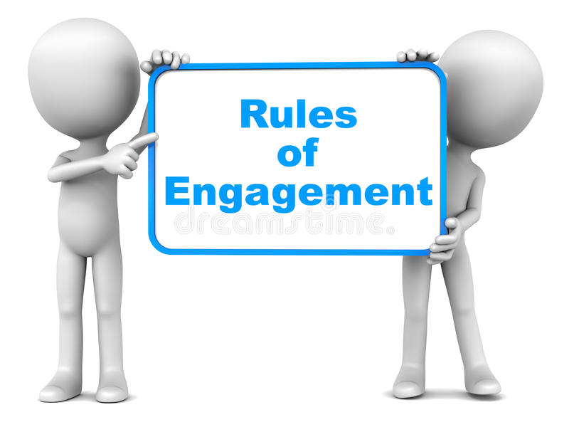 Règles d'engagement illustration libre de droits