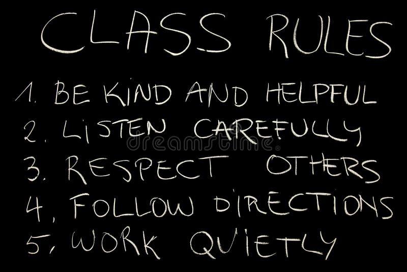 Règles de classe photo libre de droits