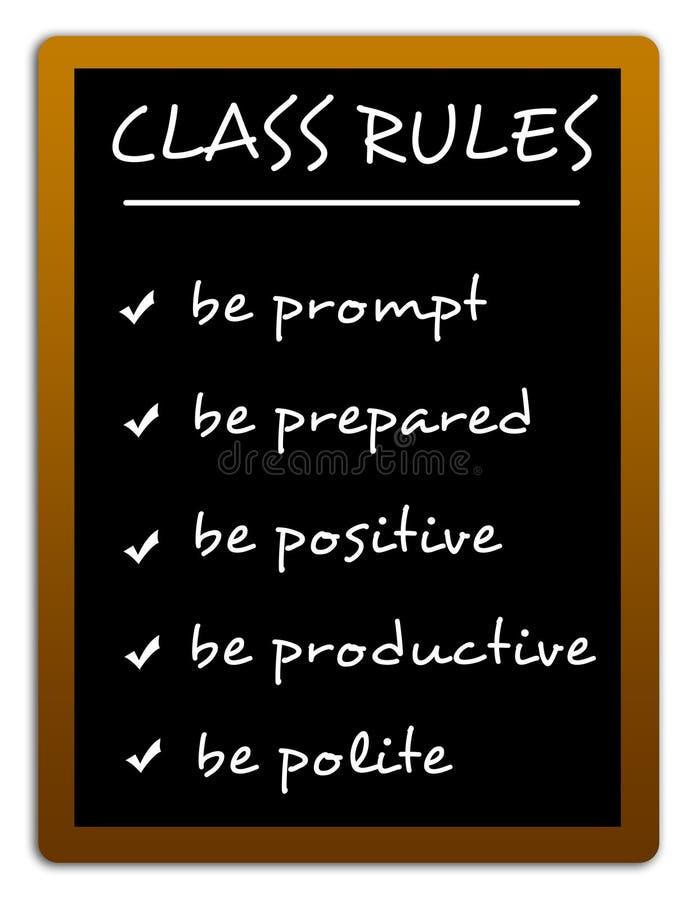 Règles de classe illustration de vecteur