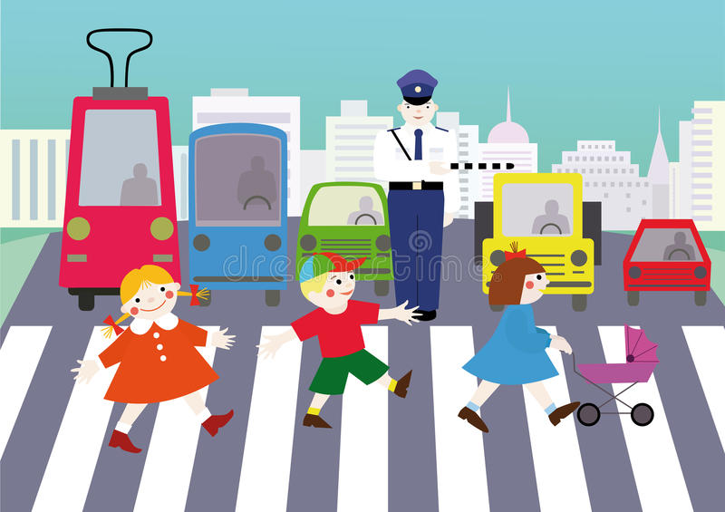 Règles de la route illustration de vecteur