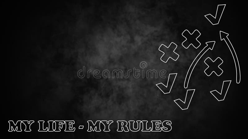 Règles de ma vie image libre de droits