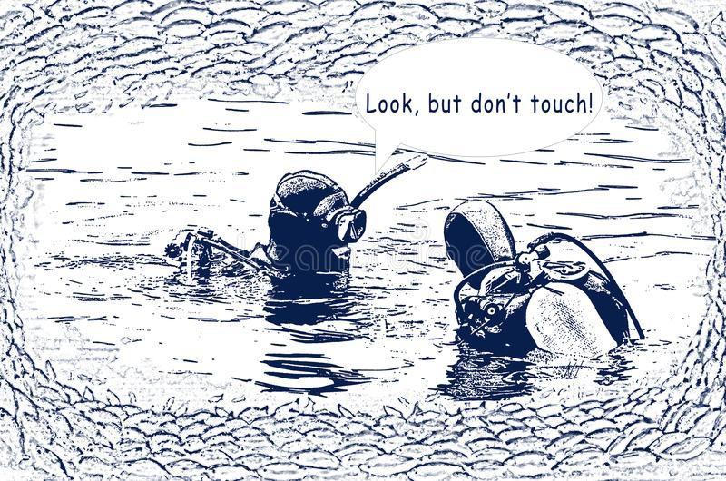 Règles de plongée illustration libre de droits
