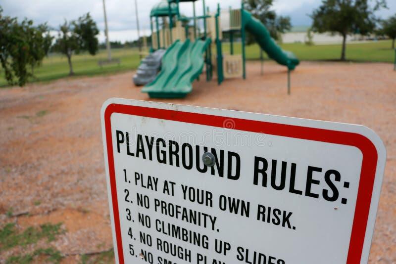 Règles de terrain de jeu photos libres de droits