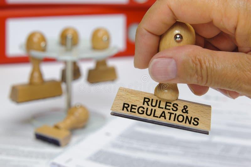 Règles et règlements photo libre de droits