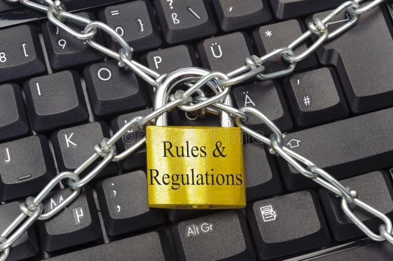 Règles et règlements images libres de droits