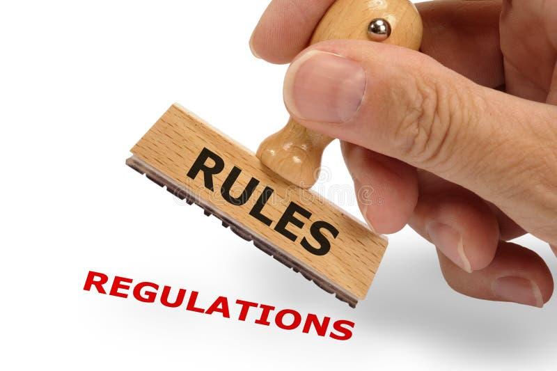 Règles et règlements images stock