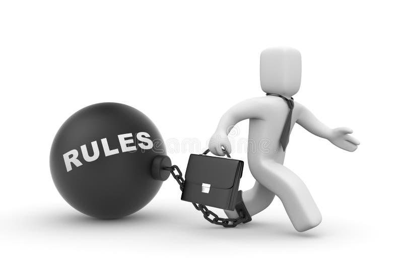 Règles pour des affaires illustration libre de droits
