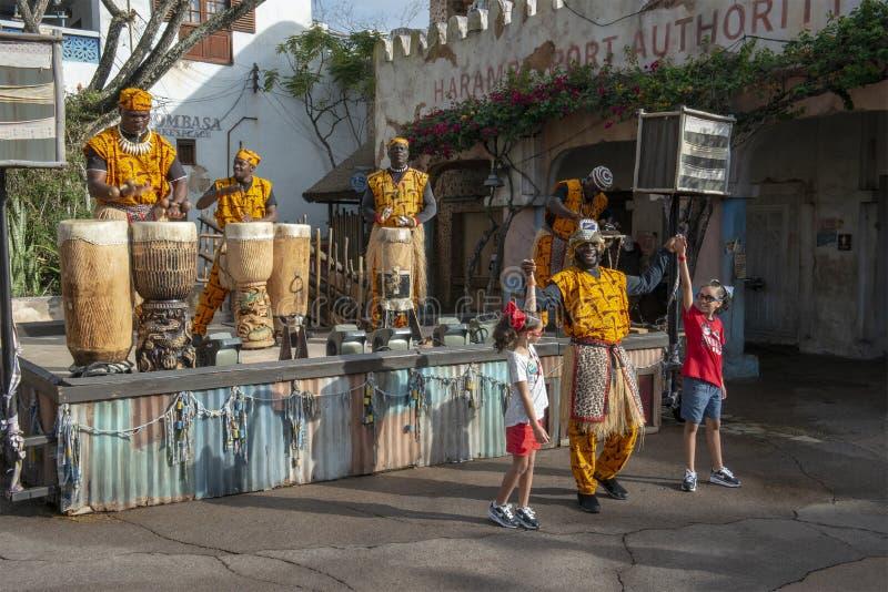 Règne animal, Disney World, voyage, bande africaine images stock
