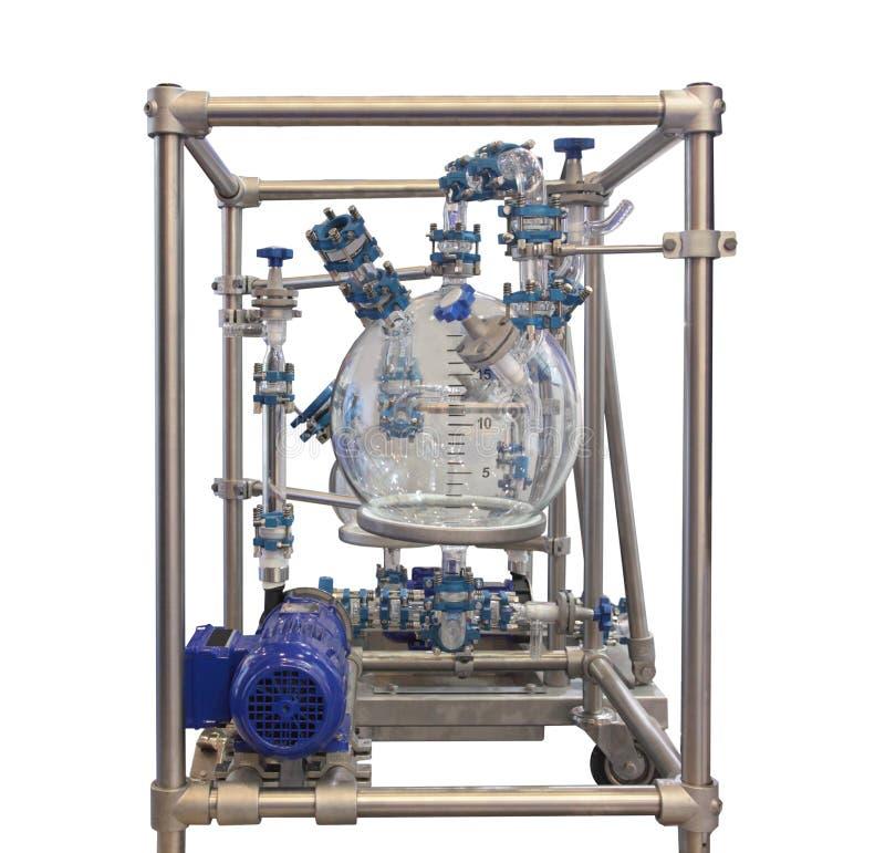 Réacteur chimique en verre photos libres de droits