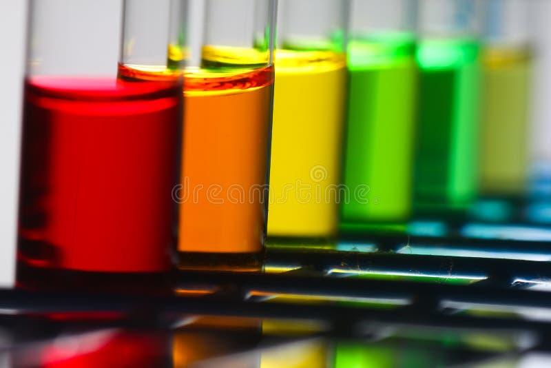 Réactifs de chimie photo stock