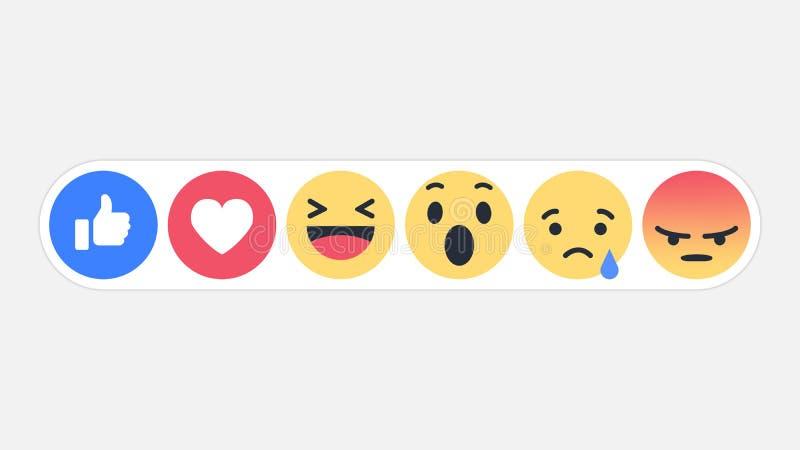 Réactions sociales icône, illustration de réseau d'Emoji de vecteur illustration de vecteur