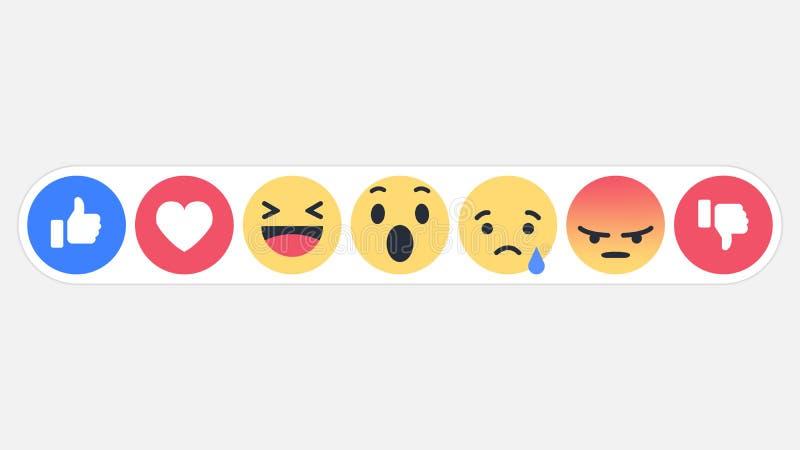 Réactions sociales icône, illustration de réseau d'Emoji de vecteur illustration stock