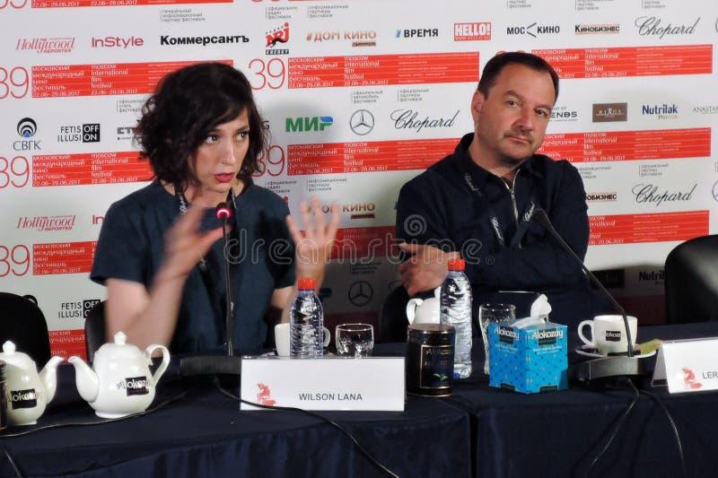 Réalisateur Lana Wilson au trente-neuvième festival de film international de Moscou photos stock