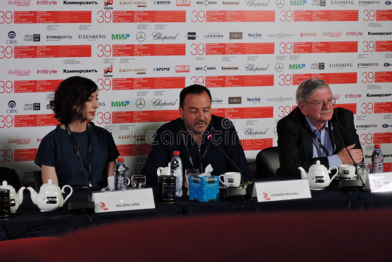 Réalisateur Lana Wilson au trente-neuvième festival de film international de Moscou image libre de droits