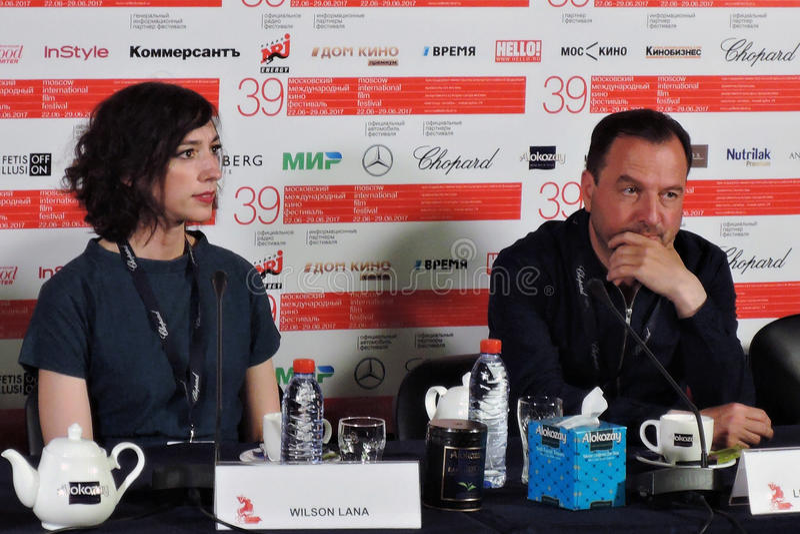 Réalisateur Lana Wilson au trente-neuvième festival de film international de Moscou images libres de droits