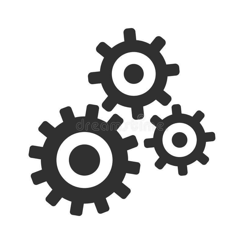 Réalisation, travail d'équipe de concept, idée d'affaires de générateur - vecteur illustration stock