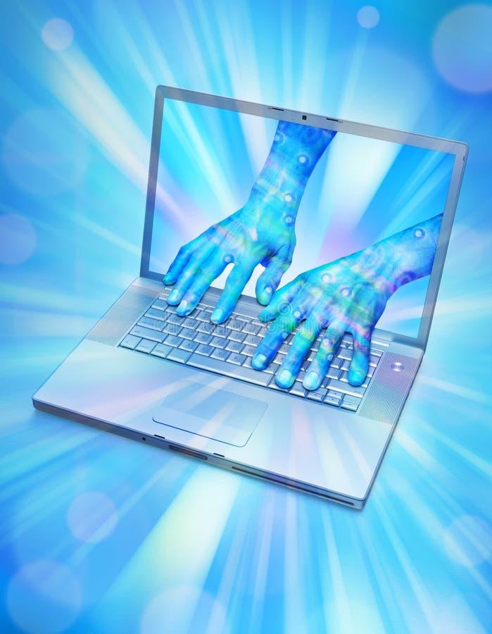 réalité d'ordinateur d'avatar virtuelle illustration de vecteur