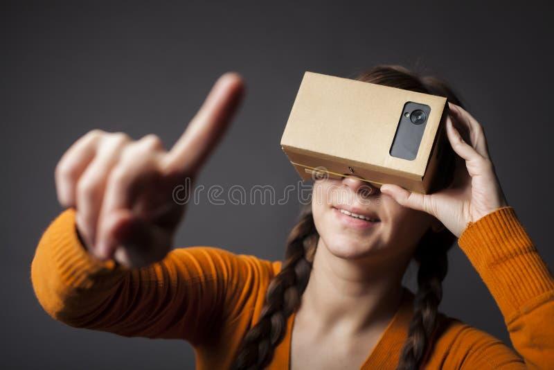 Réalité virtuelle de carton photo stock