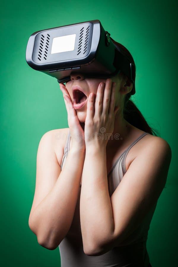 Réalité virtuelle de carton photo libre de droits