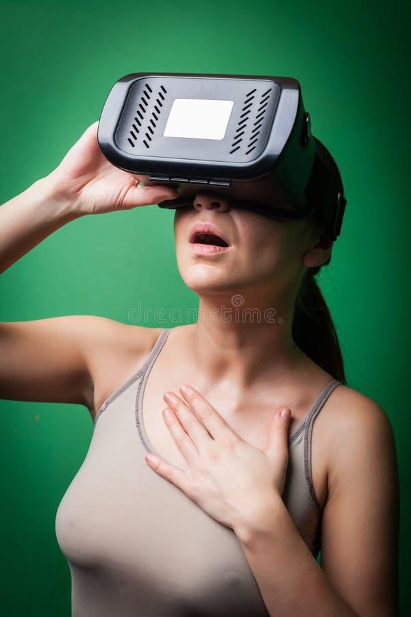 Réalité virtuelle de carton photographie stock