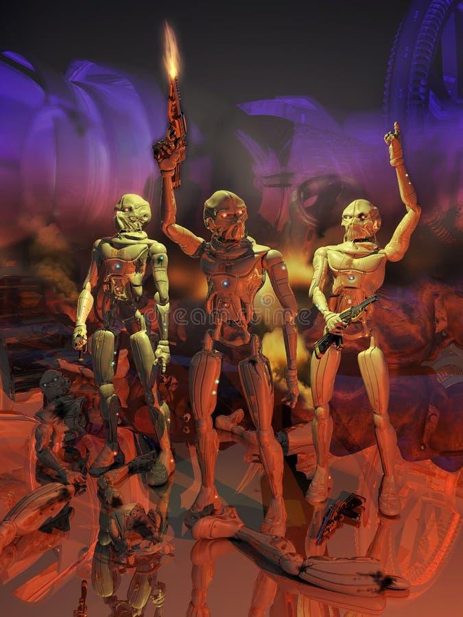Rébellion d'androïdes illustration de vecteur