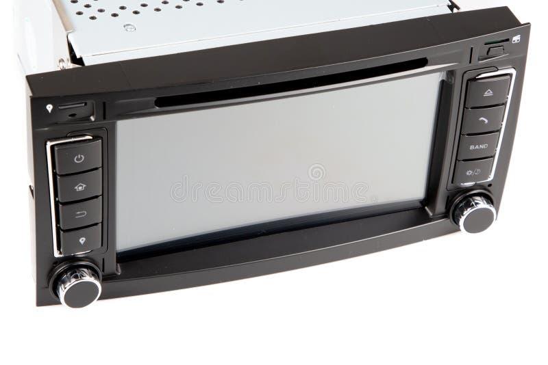 Récepteur multimédia numérique de la voiture moderne Vue frontale Audio images stock