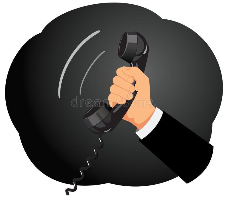 Récepteur téléphonique illustration stock