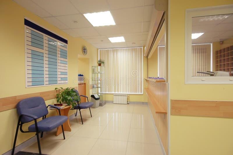 réception d'hôpital photos stock