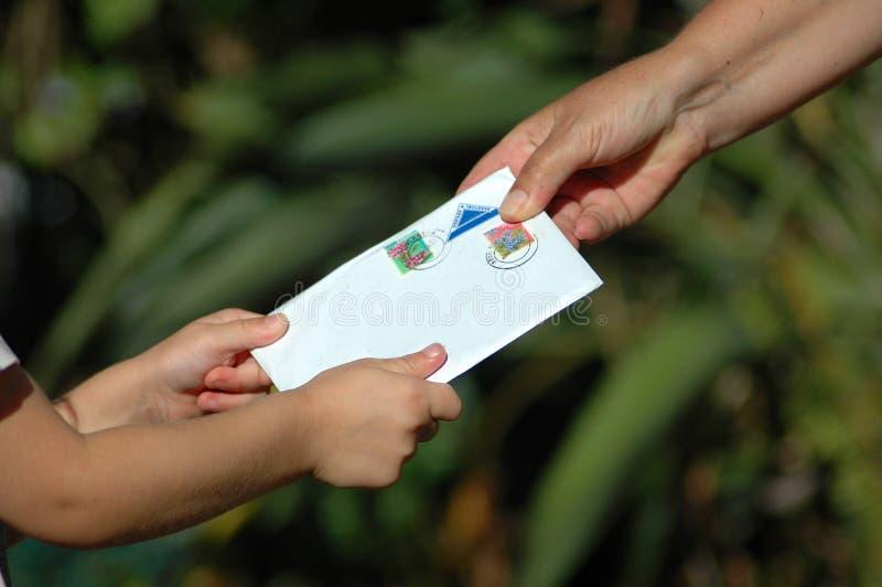 Réception d'une lettre image libre de droits