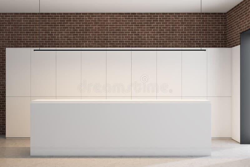 Réception dans le blanc et le bureau de brique illustration stock