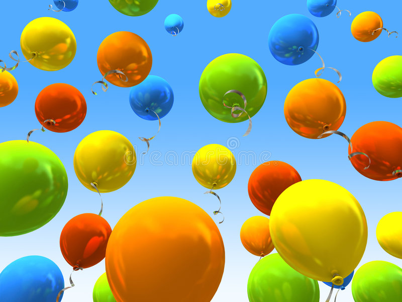 réception de ballons illustration stock
