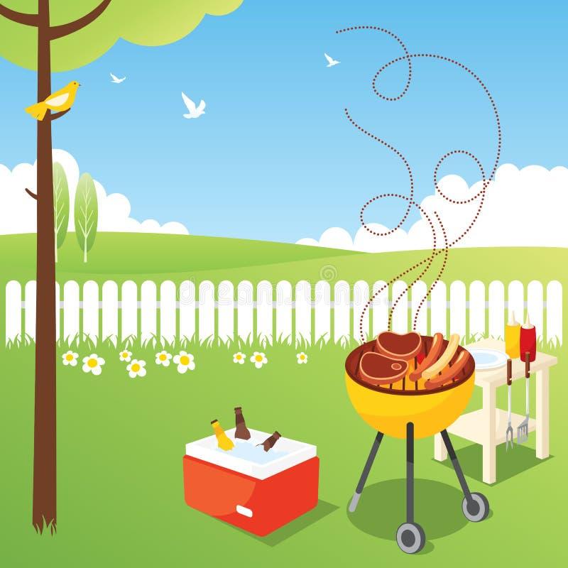 Réception de BBQ illustration de vecteur