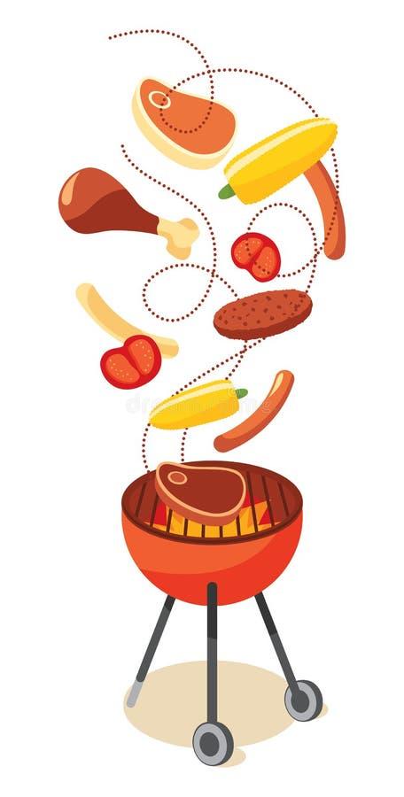 Réception de BBQ illustration libre de droits