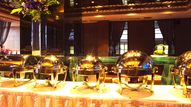 Réception de buffet image libre de droits
