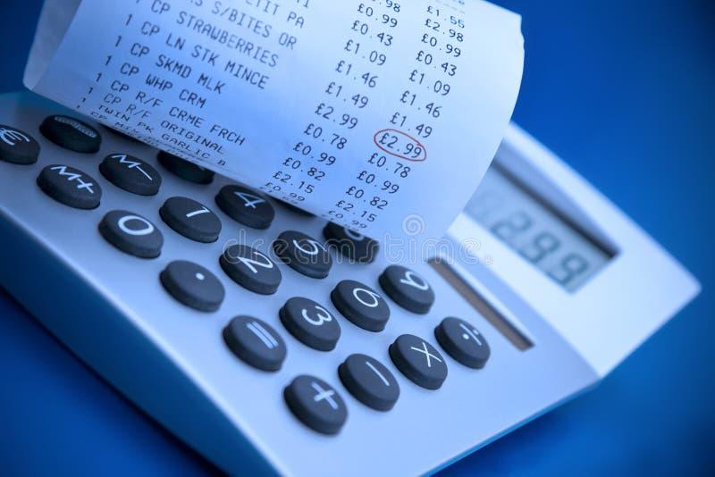 Réception de calculatrice et de caisse comptable photos libres de droits