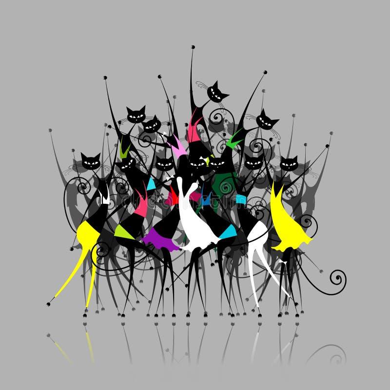 Réception de Catwoman, illustration illustration stock