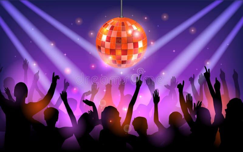 Download Réception De Club Avec Des Gens De Danse Illustration de Vecteur - Illustration du danse, lumière: 76079197