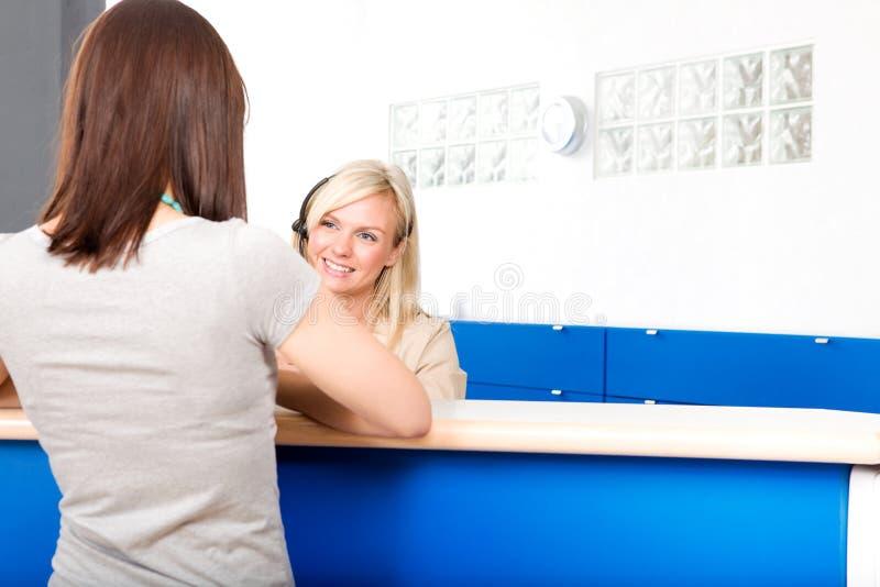 Réception de dentiste photographie stock