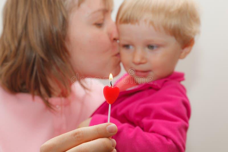 Réception de famille dans le rose photographie stock