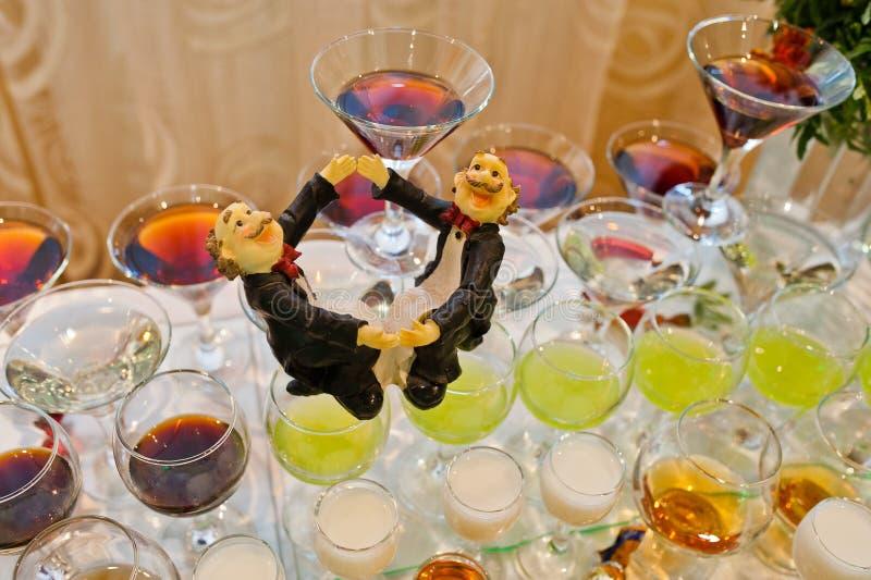 Réception de mariage photographie stock