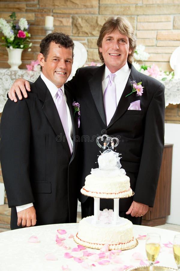 Réception de mariage - deux mariés image libre de droits