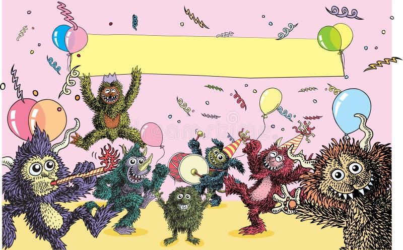 Réception de monstre illustration libre de droits