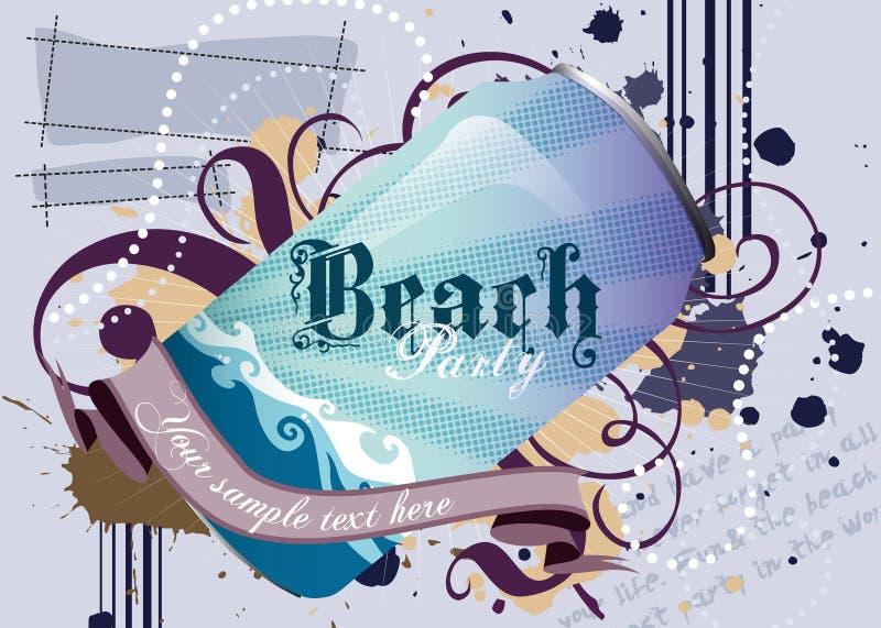 Réception de plage image stock