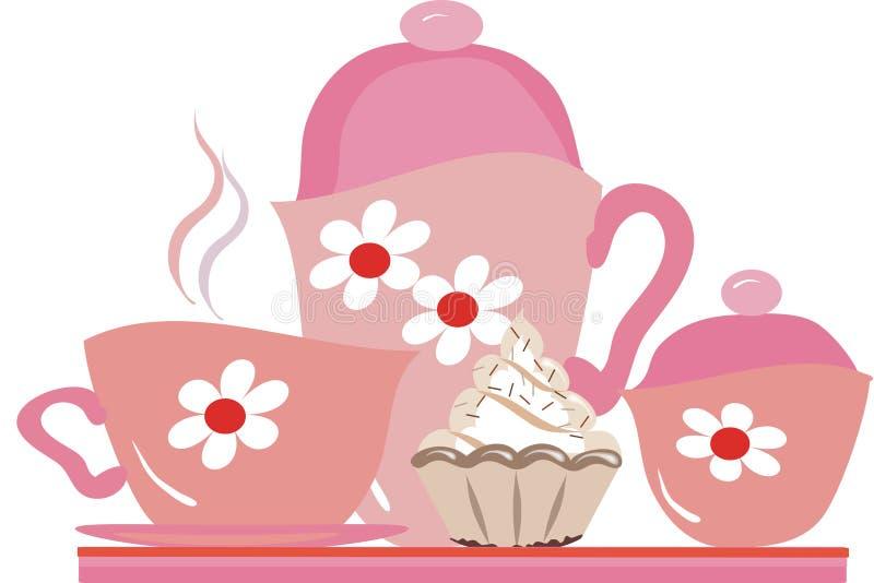 Réception de thé illustration libre de droits