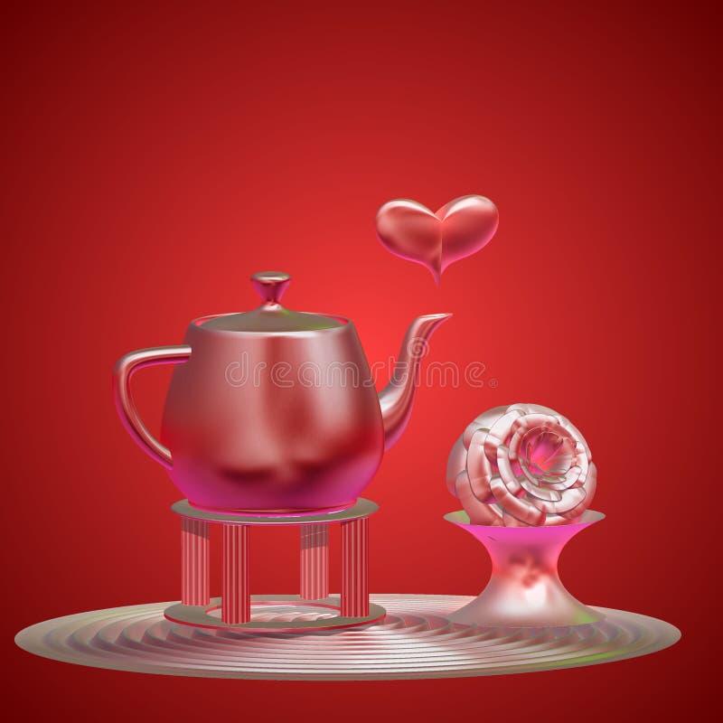 Download Réception de thé illustration stock. Illustration du illuminé - 8673472