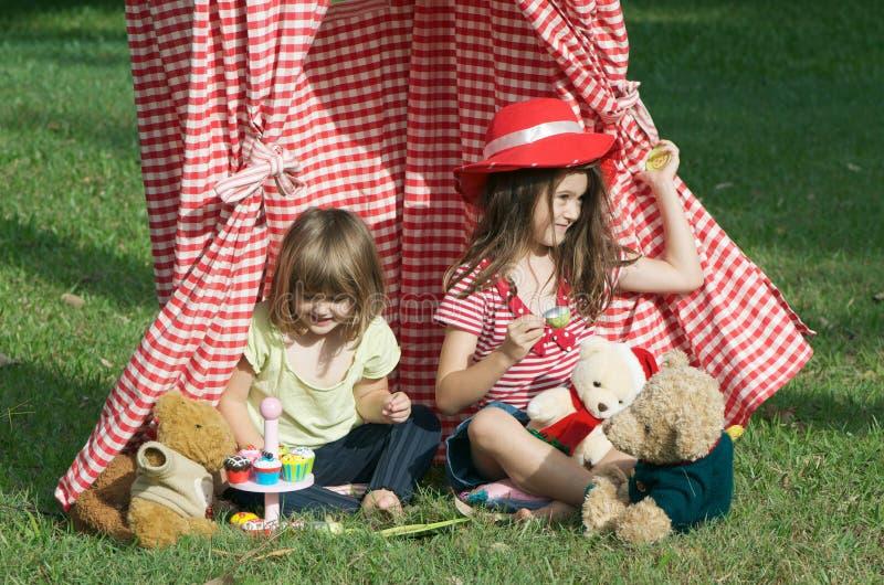 Réception de thé des enfants photographie stock