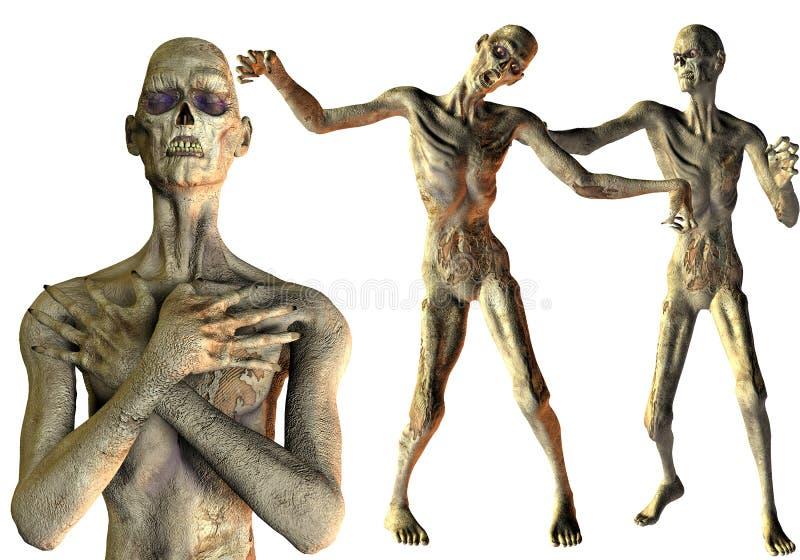 Réception de Veille de la toussaint de zombi illustration de vecteur
